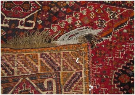 نمونه فرش قديمی فارس حدود 40 تا 50 سال